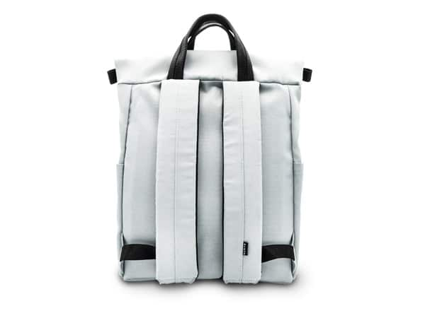 Rucksack grau Produktbild Rückseite